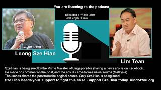 Podcast: Sued for sharing a Facebook Post in Singapore