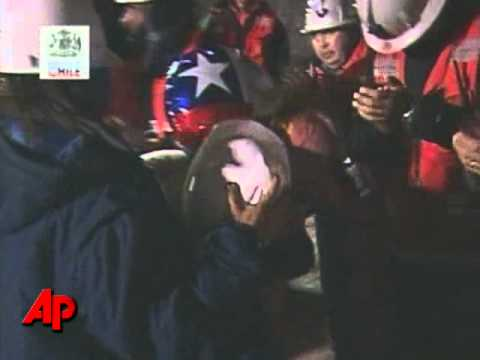 Raw Video: First of Chilean Miners Rescued