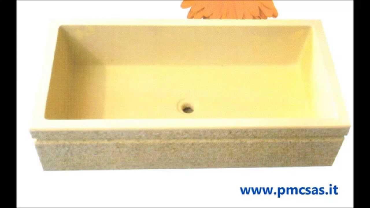 Lavandino o acquaio da giardino in marmo e cemento youtube - Lavabo giardino ...
