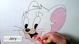 JERRY mouse drawing tutorial cute