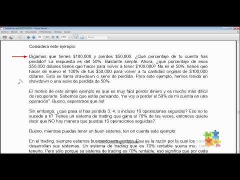Curso de Forex - 61 de 99 - Gestión del Capital y el Drawdown