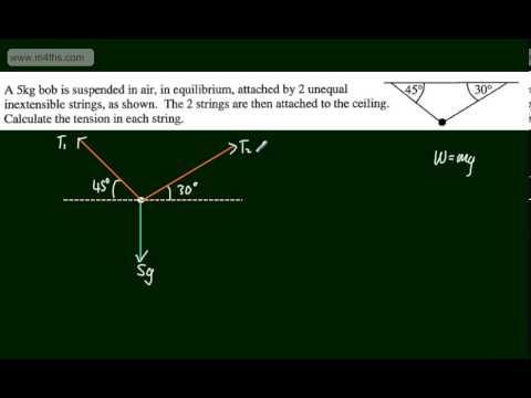Mechanics 1 (M1) - Statics in Equilibrium (1) - Introduction - Resolving Forces - AQA Edexcel OCR