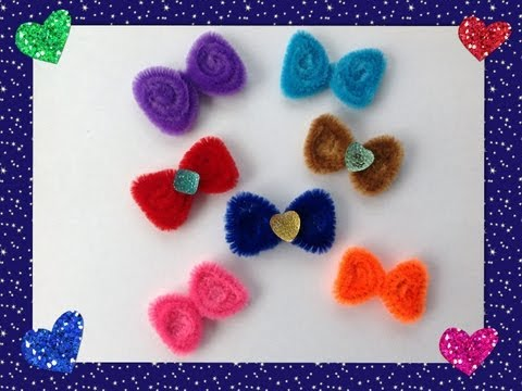 MOÑITOS HECHOS CON LIMPIA PIPAS.- PIPE CLEANER BOWS