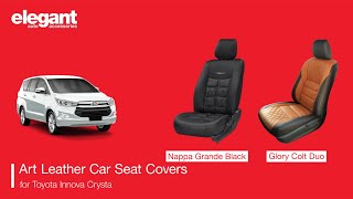 Toyota Innova Crysta | Leather seat cover |  3D car floor mats | Foot mats for Innova crysta