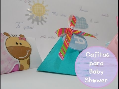 Cajitas para baby shower youtube - Fotos originales para hacer en casa ...