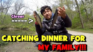 Catching DINNER for my SISTER & NEPHEW!!! (5 A DAY, BABY!)