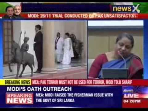 MEA briefs the media after Narendra Modi, Nawaz Sharif meets