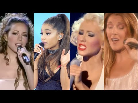 Ariana Grande vs. Mariah Carey vs. Christina Aguilera vs. Celine Dion (LIVE VOCAL BATTLE)