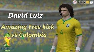 FIFA 15: David Luiz - Amazing Free kick vs Colombia - |FIFA REMAKE|