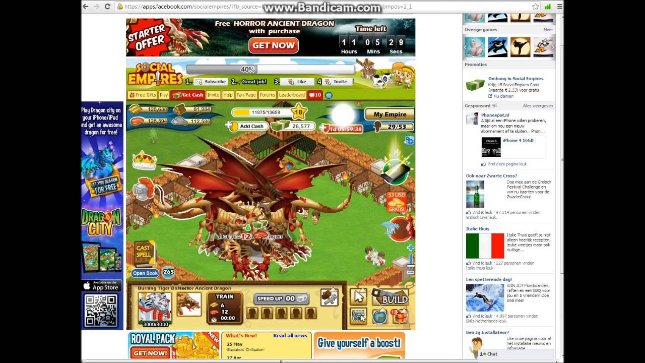 All Dragon in Social Empires Social Empires Horror Dragon