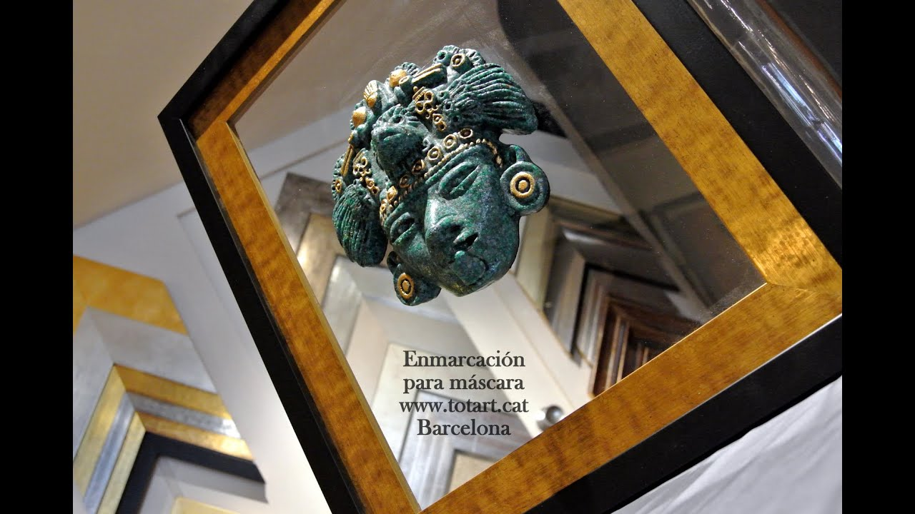 Marcos y molduras para cuadros de m scaras en barcelona - Marcos dorados para cuadros ...