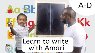 How to Teach Toddler to write easy fast simple. Alphabet Uppercase letters. 2 year old