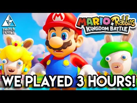 Mario + Rabbids Kingdom Battle NEW Gameplay - WE PLAYED 3 HOURS! (EXCLUSIVE INFO + REACTION)