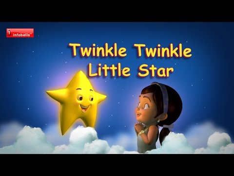 Twinkle Twinkle Little Star - Rhymes with lyrics Baby Song Lullaby...