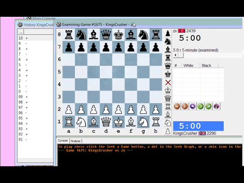 Chess World.net: Blitz chess #1942 vs zx (2463) - Sicilian: Smith-Morra gambit (B21)
