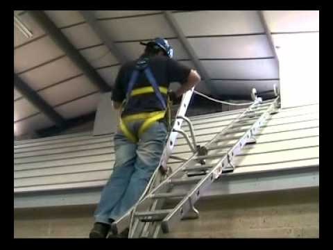 Ladder Roof Safety Training Using Vertical Lifeline System