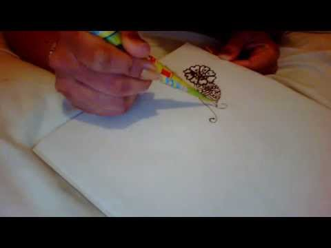 how to draw simple floral henna design....part2