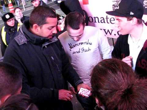David Blaine Magic For Haiti@Times Square