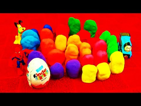30 Surprise Eggs! Play-Doh Star Wars Spiderman Toy Story Peppa Pig Dora Super Mario Cars Playdough