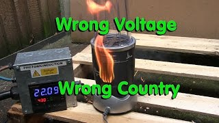 Wrong Voltage - Wrong Country