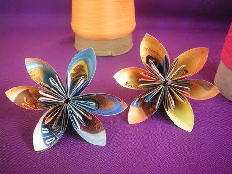 Flores de papel origami