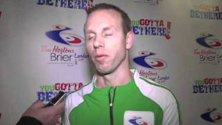 2011 Tim Hortons Brier - Draw 4 Media Scrum