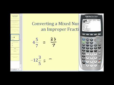 how to put mixed numbers to decimal ti nspire cx