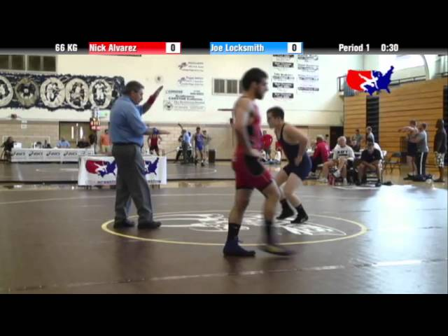 2012 Univ. WTT: 66 KG - Nick Alvarez (USOEC) vs. Joe Locksmith (Navy Mat Club)