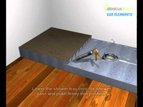 Lux elements step up wet room installation youtube - Luxelements com video ...