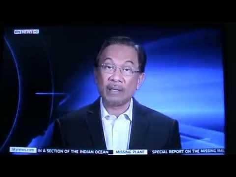 ANWAR IBRAHIM - SKY NEWS INTERVIEW ON #MH370