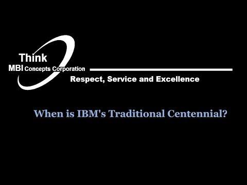 IBM's Traditional Centennial