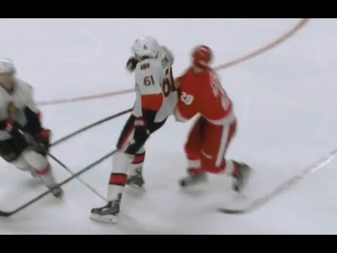Mark Stone Hit on Landon Ferraro - Injury