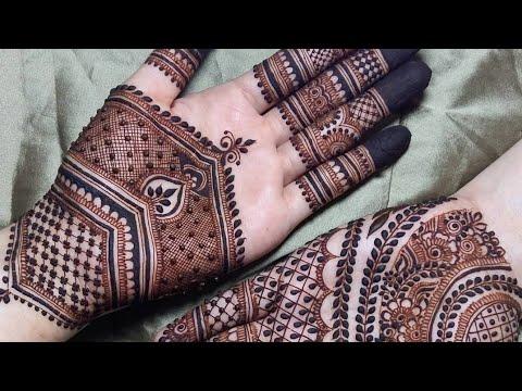 Latest eid special mehandi design 2018 ||mehandi design||full hand mehandi design||