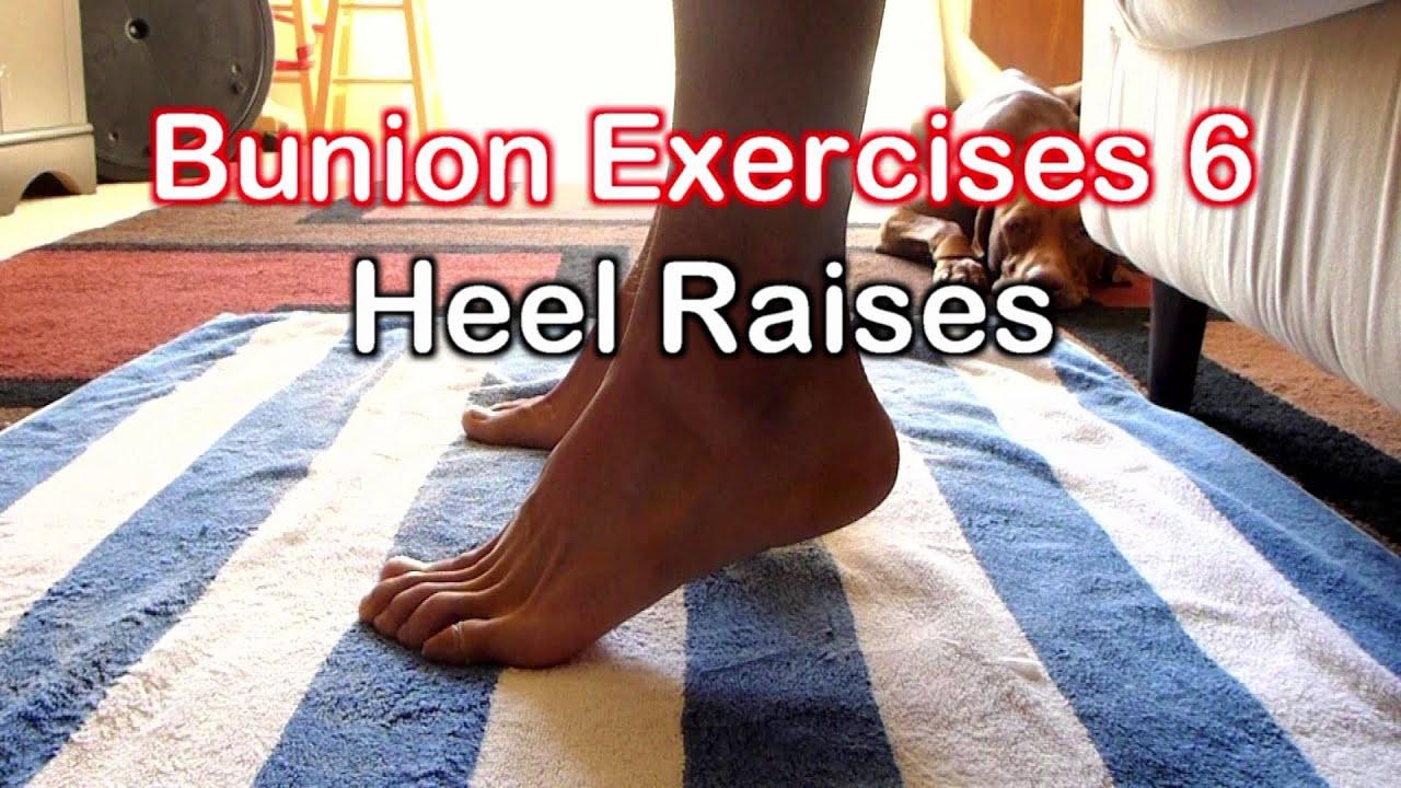 Bunion Exercises 6: Heel Raises Plantarflexion Exercise ...