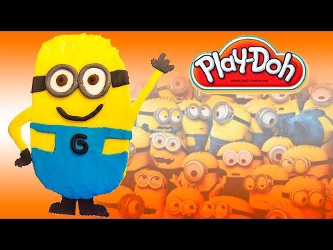 Play Doh Minions Despicable Me Gru Mi Villano Favorito DIY Play Dough Minions Shape