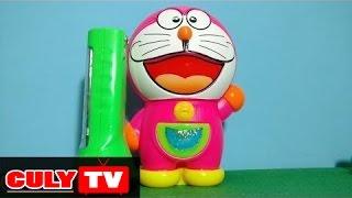 Mở hộp quà Doremon túi thần kỳ nhiều kẹo và đồ chơi đèn pin thu nhỏ | Doraemon toy for kids