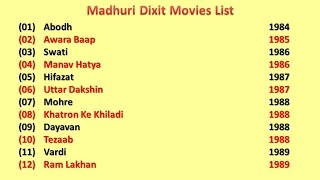 Madhuri Dixit Movies List