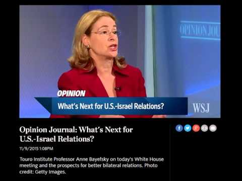 OPINION JOURNAL : WHAT'S NEXT FOR U.S.-ISRAEL RELATIONS?