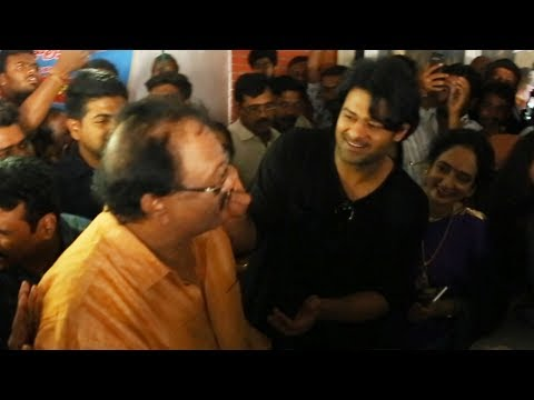 Saaho Prabhas Participated In Rebel Star Krishnam Raju Birthday Celebrations   Manastars thumbnail