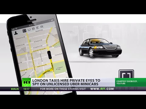 Uber The Top: London cab drivers angered by taxi app