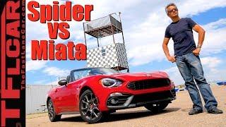What's Faster: Fiat 124 Spider Abarth or Mazda Miata MX-5?