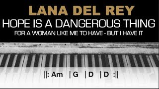 Lana Del Rey Hope Is A Dangerous Thing Karaoke Chords Acoustic Piano Instrumental