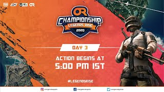 [Hindi] Day 3 I OR Championship: Legends Rise I PUBG Mobile