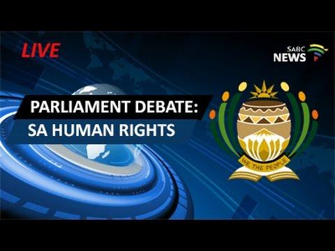 Parliament debate on SA human rights