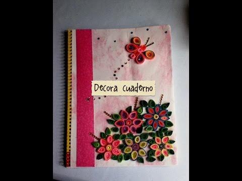 DIY decora cuaderno libreta papel diamantes resistol bonito fácil económico de