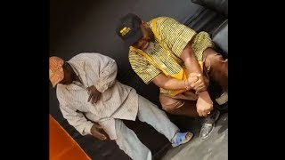 So Humble! See Actor Funsho Adeolu In Dance Competition With His Fans On The Street