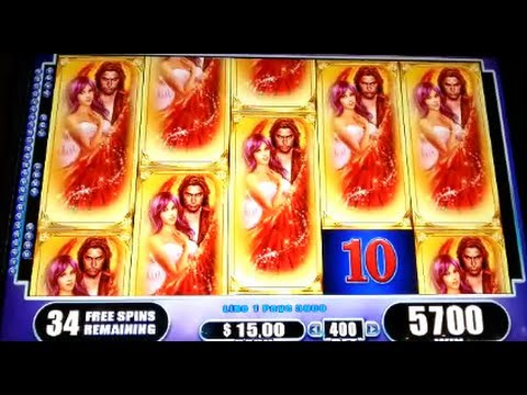 Fallen Angels Jackpot Handpay Max Bet Bonus + Retriggers Wms Slot Machine video