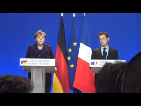 Merkel, Sarkozy announce joint proposal to save the euro (German, French)
