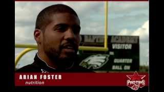 Arian Foster interview - What you should eat