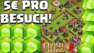 JEDER BESUCH BEKOMMT 5€! ⭐️ Clash of Clans ⭐️ CoC